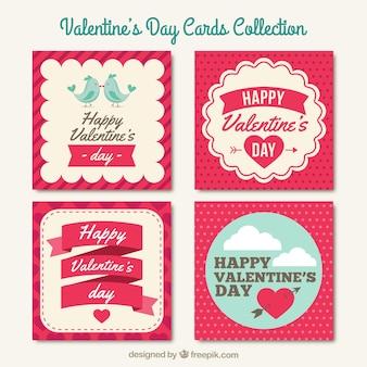 Coleción de tarjetas del día de san valentín
