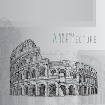 Coliseo dibujado a mano