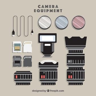 Collección de equipo de fotografía