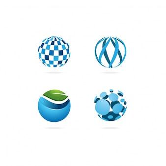 Collección de logos con diseño redondo
