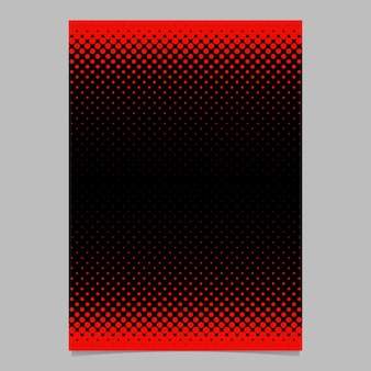 Color abstracta semitono círculo patrón tarjeta plantilla - vector papelería de fondo diseño gráfico con patrón de punto