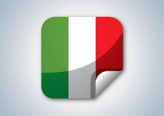 Color ITALIA logotipo de la bandera