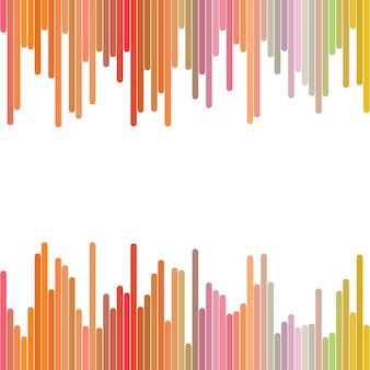 Color resumen de antecedentes de líneas verticales - diseño gráfico vectorial geométrico