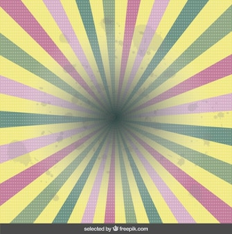 Colores pastel sunburst fondo