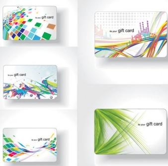 Colorful material de flujo de negocio tarjetas vector