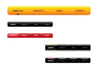 colorida barra de herramientas de navegación web