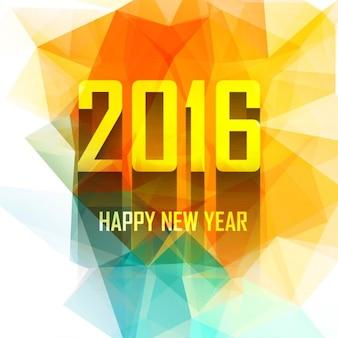 Colorida tarjeta de año nuevo 2016