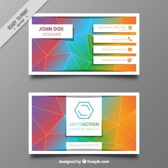Colorida tarjeta de negocios geométrica