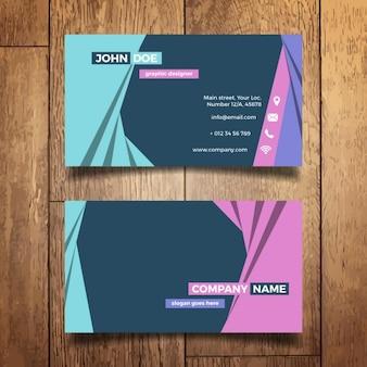 Colorida tarjeta de visita moderna