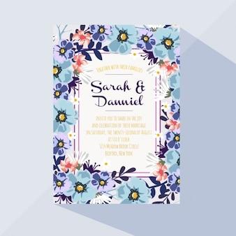 Colorida tarjeta floral