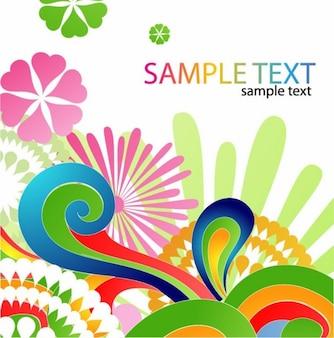 colorido diseño floral de fondo abstracto