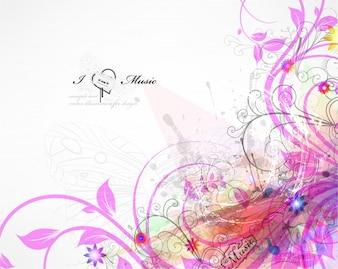 Colorido felicitación amor flor manojo