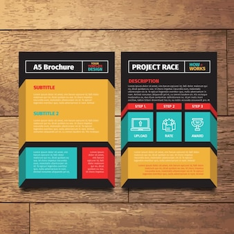 Colorido folleto moderno en A5