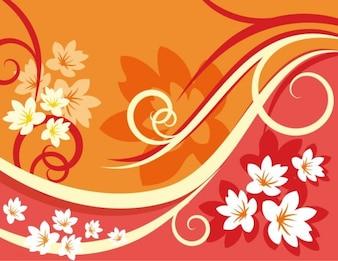 Colorido fondo floral ilustración vectorial