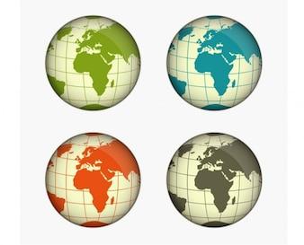 Colorido globo paquete de vectores ilustrador