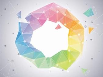 Colorido gráfico vectorial círculo