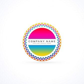 Colorido logotipo circular