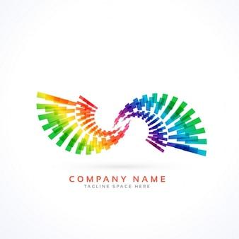 Colorido logotipo con formas geométricas