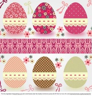 Colorido patrón de huevos de pascua