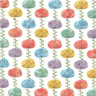 Colorido patrón floral