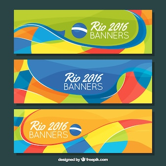Coloridos banners de brasil