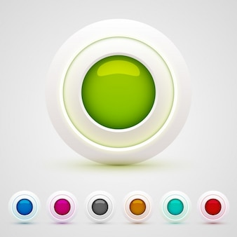 Coloridos botones web circulares