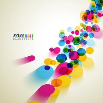 Coloridos círculos vectoriales de fondo
