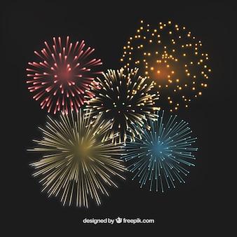 Coloridos fuegos artificiales