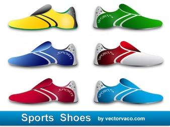 Coloridos zapatos deportivos de marca