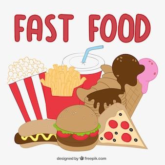 Comida rápida ilustración