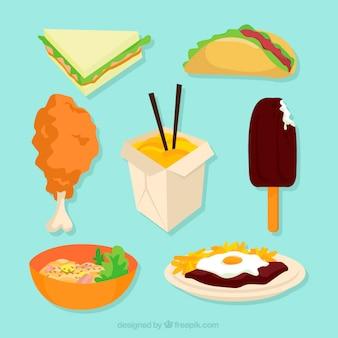 Comida variada y deliciosa