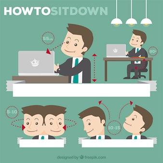 Cómo sentarse en la oficina