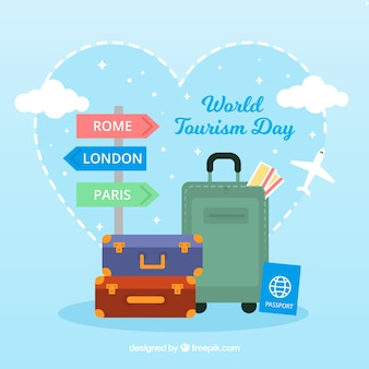 Composición adorable del día mundial del turismo