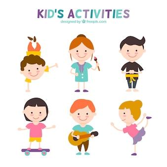 Con actividades para niños Set