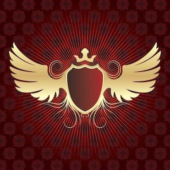 Con alas de oro escudo