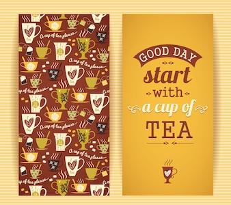 Concepto de diseño de té.