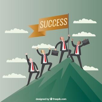 Concepto de éxito en los negocios