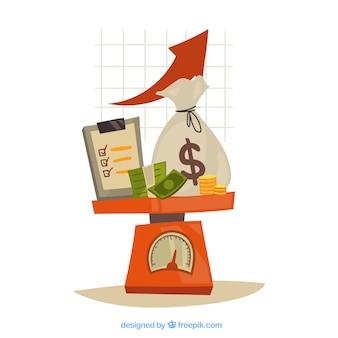 Concepto de finanzas con estilo moderno