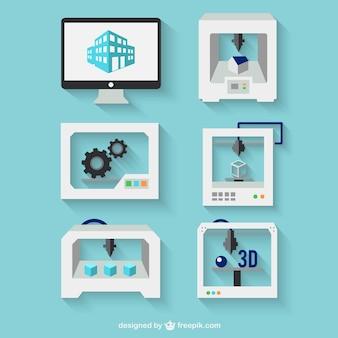 concepto de impresión 3d