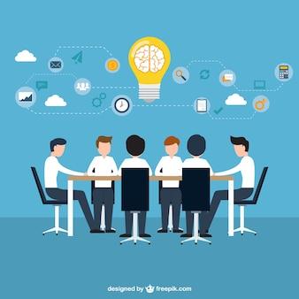 Concepto de intercambio de ideas de negocios