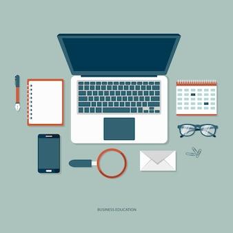Concepto de la educación de negocios