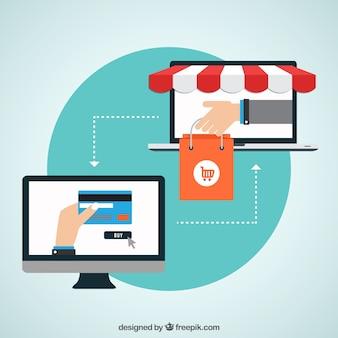 Concepto de las compras en línea