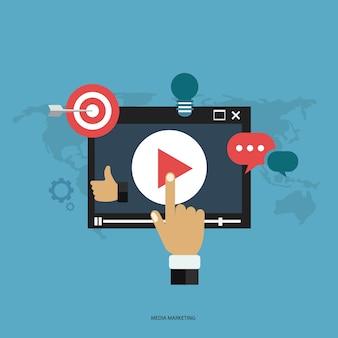 Concepto de marketing en medios