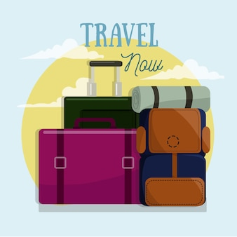 Concepto de tiempo para viajar