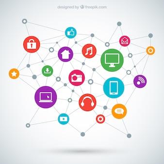 Conexión de tecnología concepto