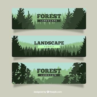 Conjunto de banderas forestales