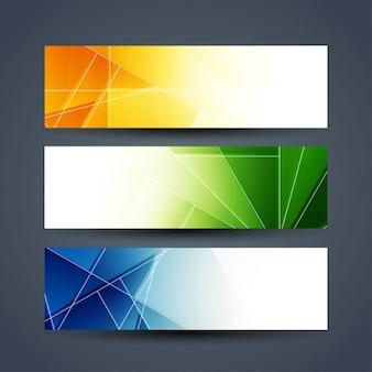 Conjunto de banners abstractos coloridos