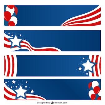 Conjunto de banners de estados unidos