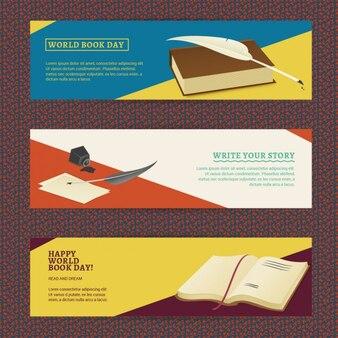 Conjunto de banners del día del libro