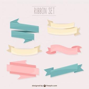 Conjunto de cintas en colores pastel